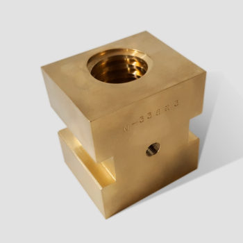 N-33863 Bronze Drive Block w/ Acme Thread | Albion Machine & Tool